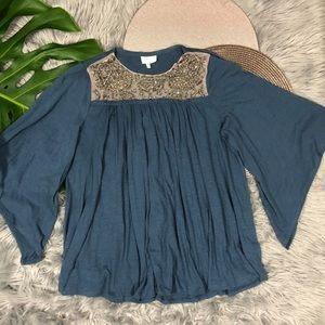 Anthropologie Deletta Embellished Baby Doll Small